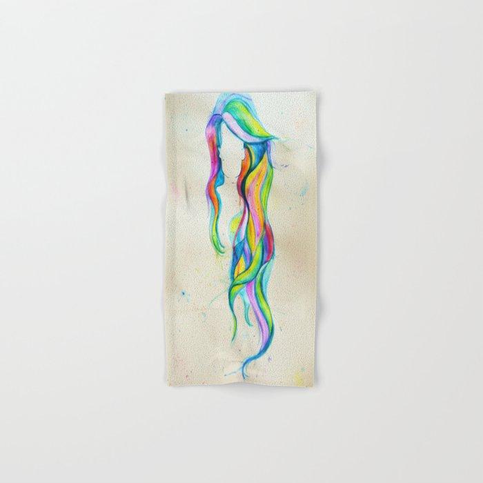 Shades of Me, Hair Series Hand & Bath Towel