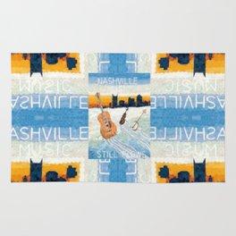 Nashville Music Pattern Rug