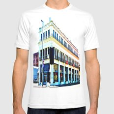 Big Whiskey Saloon Mens Fitted Tee MEDIUM White