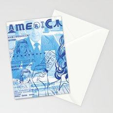 KureAll 300mg America (Navy on Carolina Blue) Stationery Cards