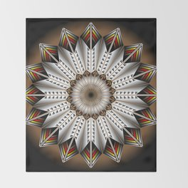 Feather Design Throw Blanket