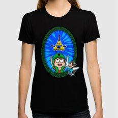 Gravity Falls: Hyrule Falls Womens Fitted Tee Black SMALL
