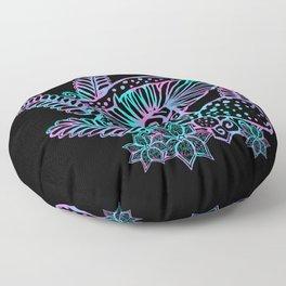 Glowing Mushrooms Floor Pillow