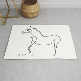 Pablo Picasso, Horse Artwork, Animals Sketch, Prints, Posters, Tshirts, Bags, Men, Women, Kids Rug