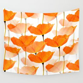 Orange Poppies On A White Background #decor #society6 #buyart Wall Tapestry