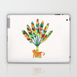 Whimsical travelers palm with tiger Laptop & iPad Skin