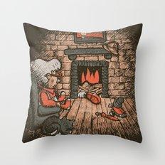 A Hard Winter Throw Pillow