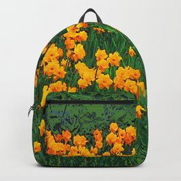 GREEN GARDEN OF YELLOW SPRING DAFFODILS Backpack