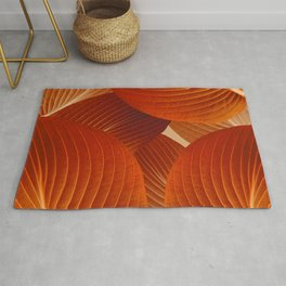 Leaves in Terracotta Color #decor #society6 #buyart Rug