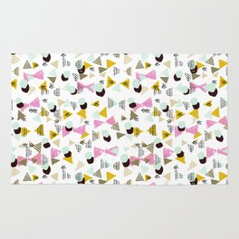 Dotty Tri abstract minimal texture brushstroke boho minimalism painting hipster geometric dorm  Rug