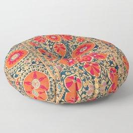 Kermina Suzani Uzbekistan Print Floor Pillow