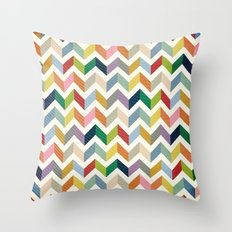 Vintage Chevron - Color Love Throw Pillow