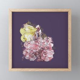 Flowergirl Framed Mini Art Print
