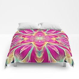Flower Of Life Mandala (Pink Passion) Comforters
