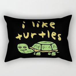 I Like Turtles Funny Tortoise Comic Turtle Lover Gift Rectangular Pillow