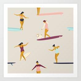 Dancers of the sea Art Print