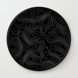 Topographic Map 01C Wall Clock