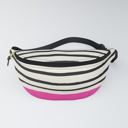 Bright Rose Pink x Stripes Fanny Pack