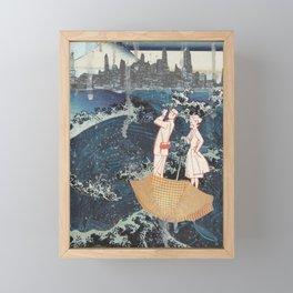 Tourists (After Hokusai) Framed Mini Art Print