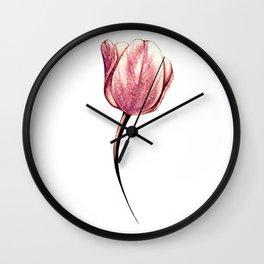 A single rose gold tulip Wall Clock