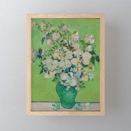 Copy of Vincent van Gogh Roses Floral Green Framed Mini Art Print