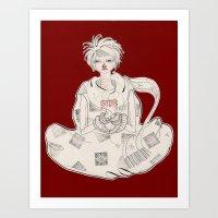 Clasped by Sickness Art Print