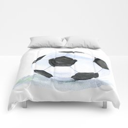 Soccer Ball Watercolor Comforters