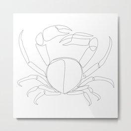 one line crab Metal Print