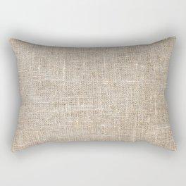 Len Sack Fabric Texture Rectangular Pillow