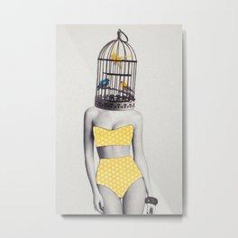 Bird Brained Babe Metal Print
