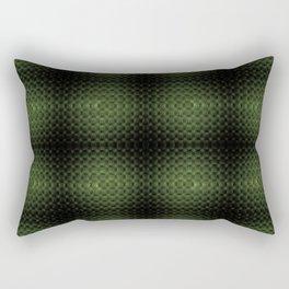 Fractal Art by Sven Fauth - Green Matrix Rectangular Pillow