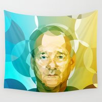 bill Wall Tapestries featuring Bill by Tom Johnson
