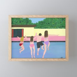 Family Holiday - Splash! Framed Mini Art Print