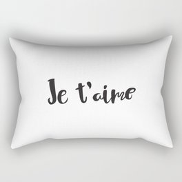 I Love You in French Rectangular Pillow