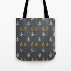 Charcoal and Leaf Repeat Tote Bag