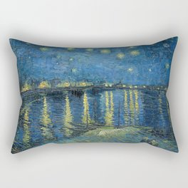 Starry Night Over the Rhone Rectangular Pillow