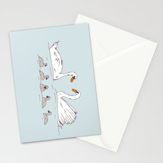 Seven Swans-a-Swimming Stationery Cards