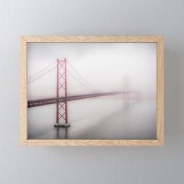 Lisbon bridge Framed Mini Art Print
