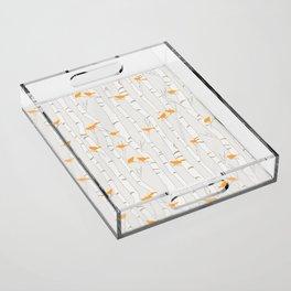 Birds & Birch - Orange Beige Acrylic Tray