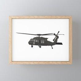 UH-60 Military Helicopter Framed Mini Art Print