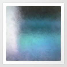 Abstract Square - blue Art Print