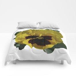 Golden Pansy Comforters