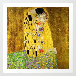 The Kiss by Klimt Art Print