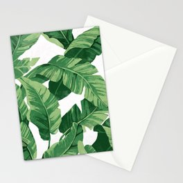 Tropical banana leaves IV Stationery Cards