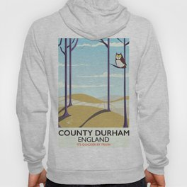 County Durham,England vintage travel poster Hoody