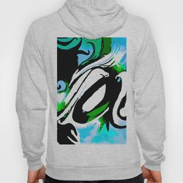 Abstract With The Blues Hoody