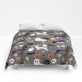 Min Pin halloween miniature doberman pinscher cute dog breed gifts Comforters
