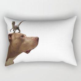 Murphy vs. the raptor Rectangular Pillow