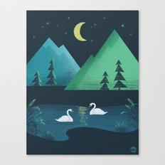 Moonlight Swim Canvas Print