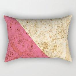 Pink Wood Rectangular Pillow